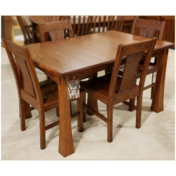 Plymouth 36 x 54 Leg Dining Collection oak antique