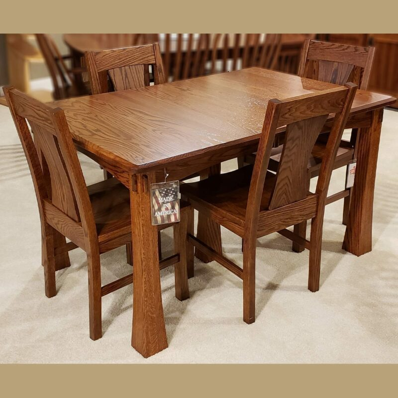 Plymouth Leg Table Oak Dining Collection Oak Creek Amish Furniture